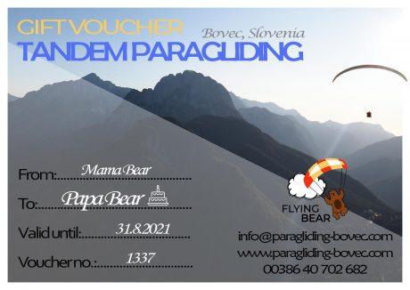 Voucher paragliding