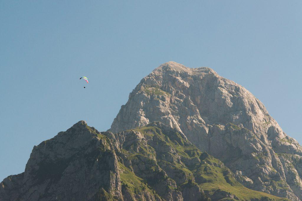 Paragliding Mangart photography