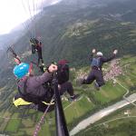Base jump paragliding