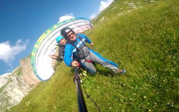 Paragliding start Mangart