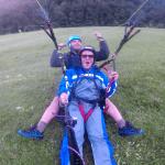 Paragliding Mangart landing Log pod Mangartom