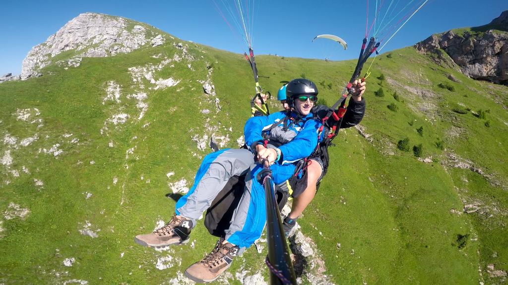 Paragliding Mangart takeoff