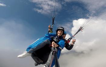 Paragliding cloud heaven