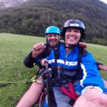 Paragliding landing Log pod Mangartom