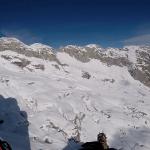 Paragliding Kanin snow winter