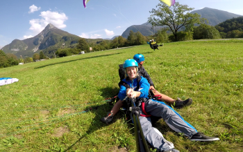 Paragliding landing Bovec