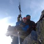 Sunny tandem paragliding