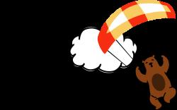 Flying Bear Tandem Paragliding Logo